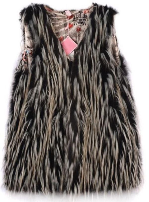 top black faux fur faux fur vest black waistcoat chicken feather faux fur waistcoat lined vest www.ustrendy.com