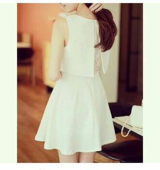 dress white dress simple dress