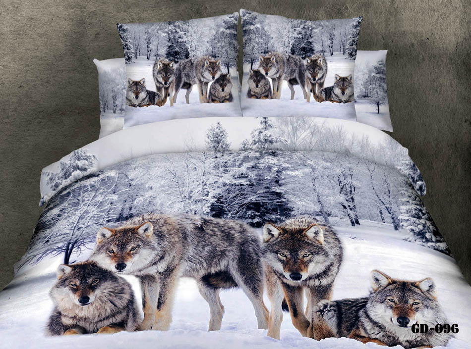 Cheap Bedding Set - Best 3d Wolves Printing Bedding Sets 100 Cotton Fabric Online with $129.85/Piece | DHgate