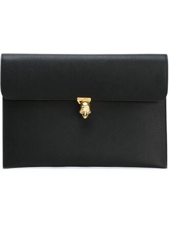 skull clutch black bag