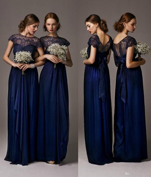 navy dress evening dress bridesmaid dress evening gown cheap bridesmaid dresses 2014 bridesmaid dress 2014 bridesmaid dresses