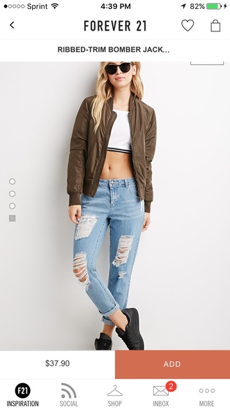 jacket short brown