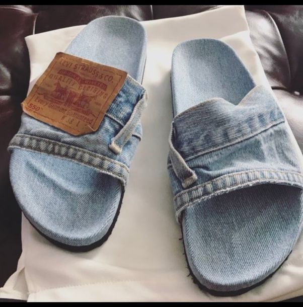 c9103a7ec296 shoes jeans jean slides slide shoes cute