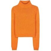 sweater,vibrant orange turtle neckk