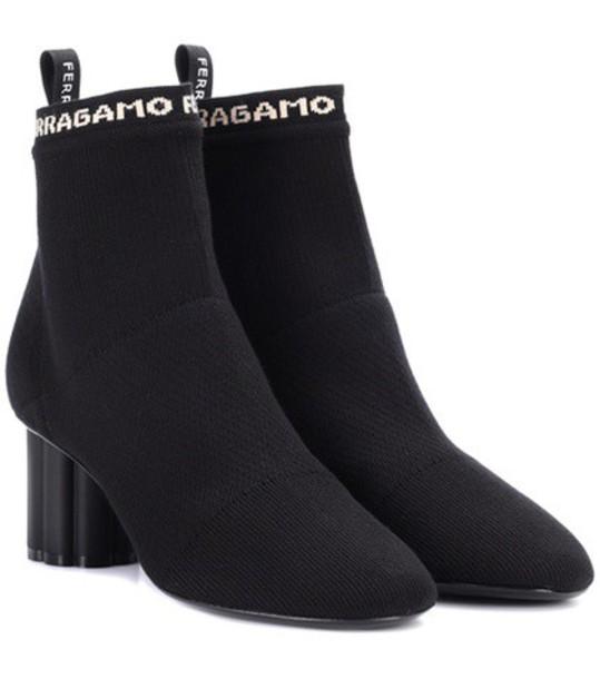 Salvatore Ferragamo ankle boots black shoes