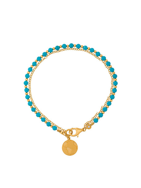 women gold blue jewels