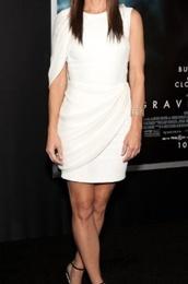dress,white dress,white,asymmetrical,uneven,short dress,short sleeve,ruched,tapered,draped,draped dress