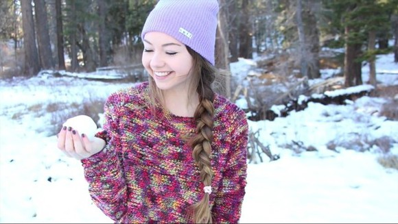 knit sweater redish colorful pretty