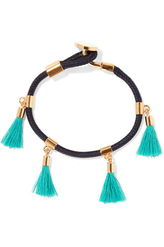 gold cotton turquoise jewels
