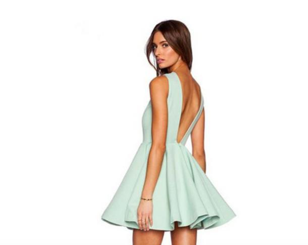 dress mint dress skater dress