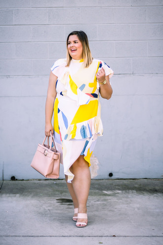 stylishsassy&classy blogger dress bag shoes fall outfits plus size sandals pink bag