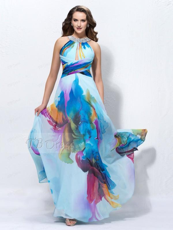Dress Prom Dress Formal Dress Long Dress Flowered Shorts Floral