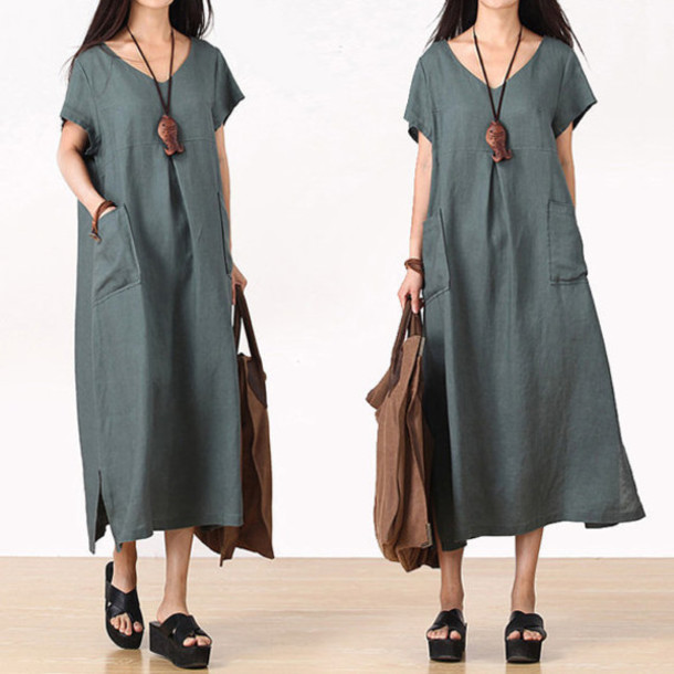 dress maxi dress dark green dress