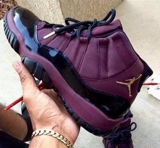 shoes jordans air jordan bred 11s burgundy