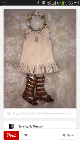toddler 2t north west birthday outfit pocahontas bobo chic dress