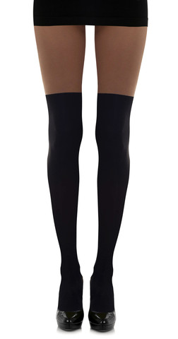 Faux Thigh High Pantyhose by Zohara