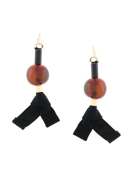 MARNI women ball earrings brown jewels