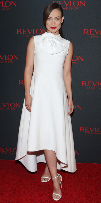 dress white white dress all white everything olivia wilde midi dress shoes