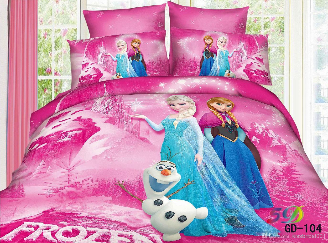 Cheap Bedding Set - Best Frozen 3d Kids Bedding Sets Elsa Anna Olaf Online with $109.95/Piece | DHgate