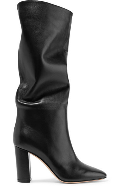 Gianvito Rossi - Laura 85 Leather Knee Boots - Black