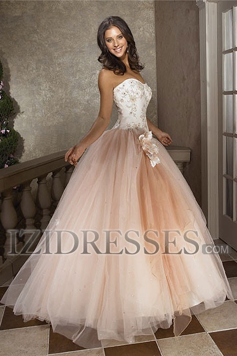 Ball Gown A-line Sweetheart Strapless Quinceanera Dress  at IZIDRESSES.com