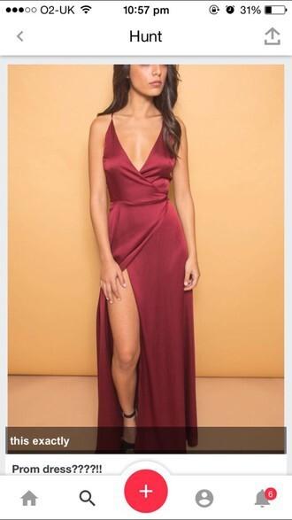 dress red dress sexy dress formal dress prom dress long red prom dress leg long dress short sleeve short sleeve dress burgundy v shaped dress