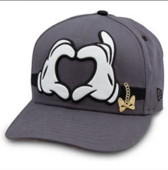heart cap mickey mouse hands hat