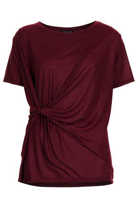 Knot Front Tee - Tops  - Clothing  - Topshop
