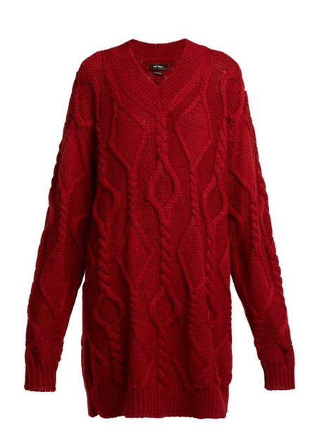 sweater wool sweater wool knit red