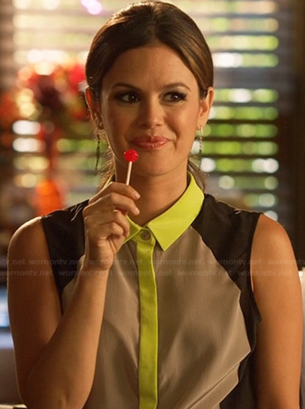 rachel bilson hart of dixie cardigan neon collar
