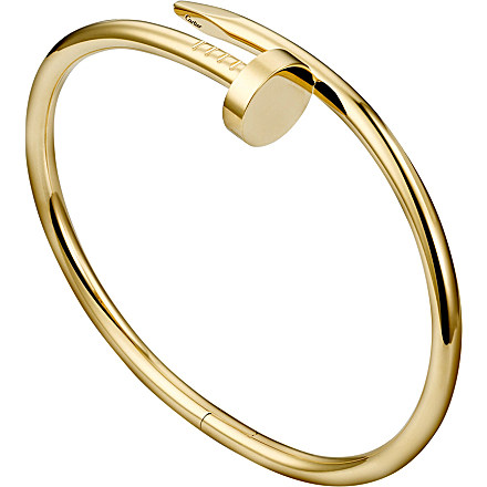 CARTIER - Juste un Clou 18ct yellow-gold bracelet | Selfridges.com