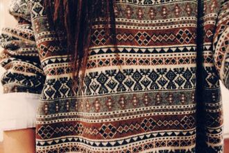 sweater jumper patterned tribal pattern oversized sweater