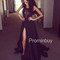 Black lace chiffon long prom dress, lace evening dress