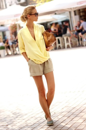 sirma markova blouse shorts bag shoes sunglasses jewels