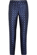 J.Crew | Collection Café silk-jacquard Capri pants | NET-A-PORTER.COM