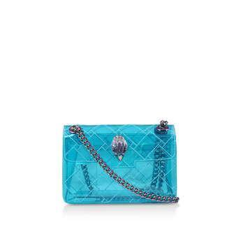 Kurt Geiger London Mini Kensington - Transparent Blue Mini Shoulder Bag