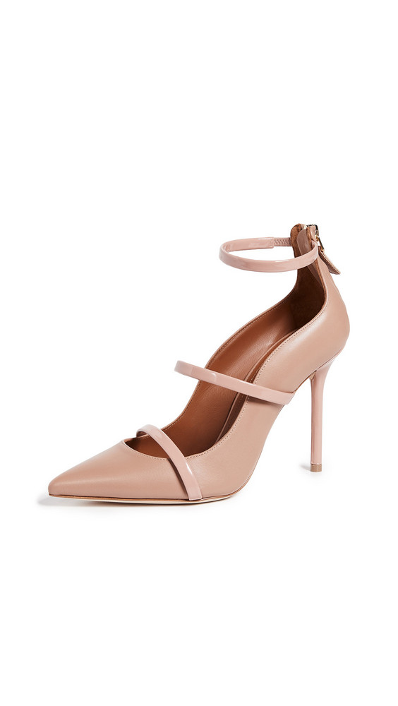 Malone Souliers Robyn 100 Pumps in blush