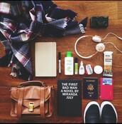 bag,brown,satchel,traveling,scarf