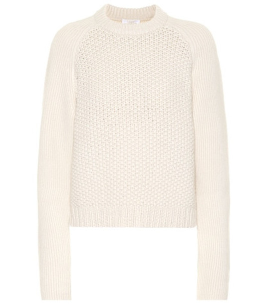 Chloé Wool and cashmere sweater in white