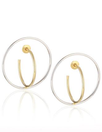 earrings gold silver