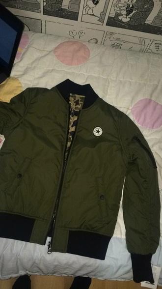 jacket converse green bomber jacket bomber jacket