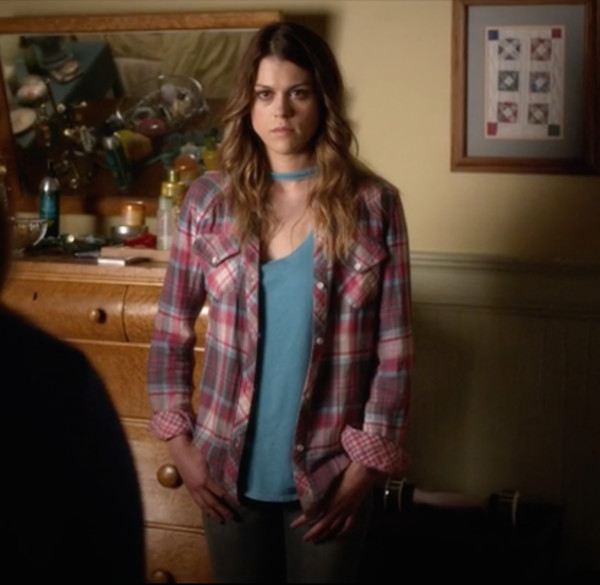 pretty little liars flannel plaid shirt