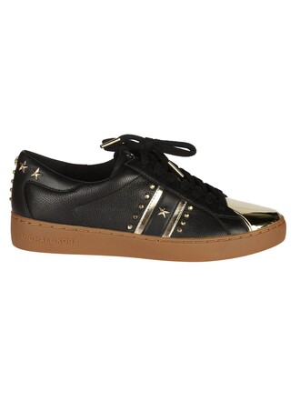 sneakers pale gold black shoes