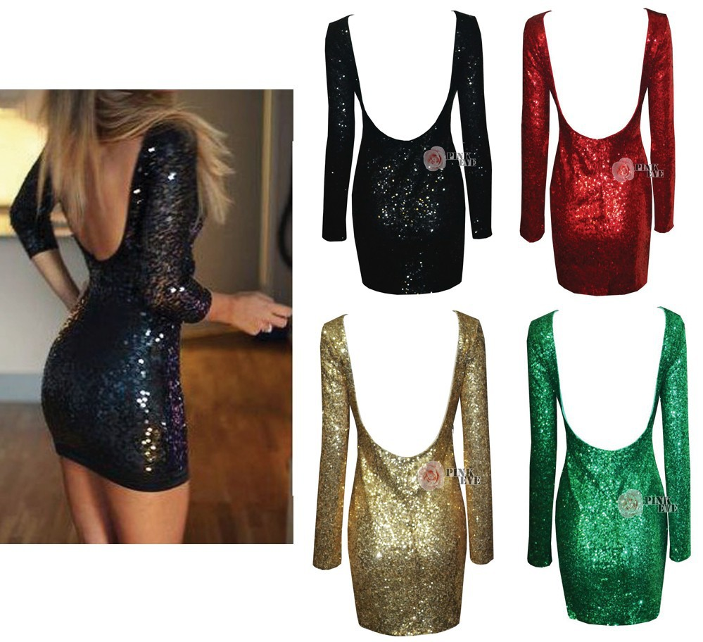 Aliexpress.com : buy free shipping fashion gold sequined halter long sleeve bodycon dress. party dress tb 5883 from reliable dress safe suppliers on pink eve fashion