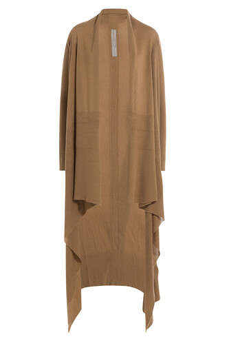 cardigan draped wool camel sweater