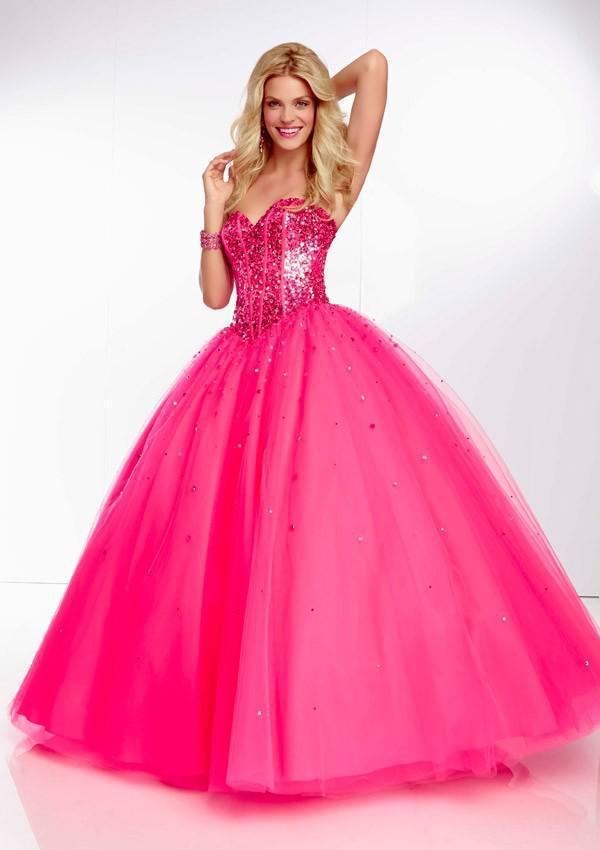 American Style Cherie Paillette Rose Orange Bleu Tulle Robe De Bal