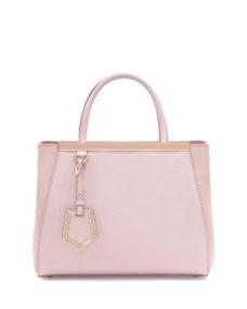 Fendi 2jours petite shopping tote bag, light pink