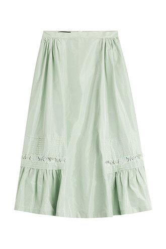 skirt midi skirt midi silk green