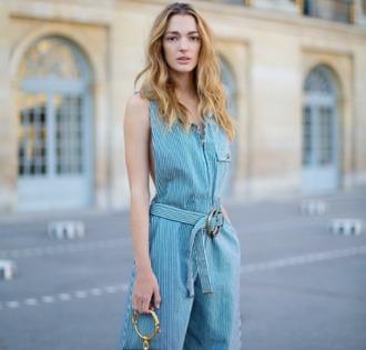 jumpsuit chloé mytheresa stripes streetstyle summer outfits paris