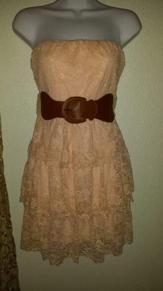 dress tan belt tan dress